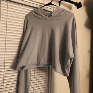 Light Blue Cropped Hoodie